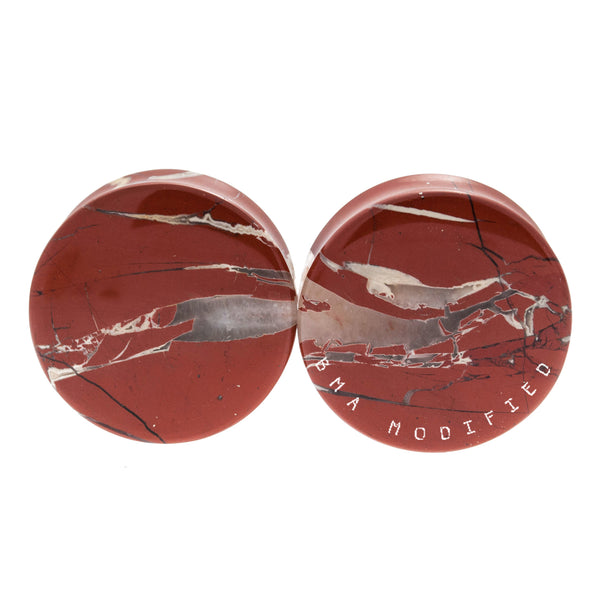 Red River Jasper Stone Plugs (32mm) #7657