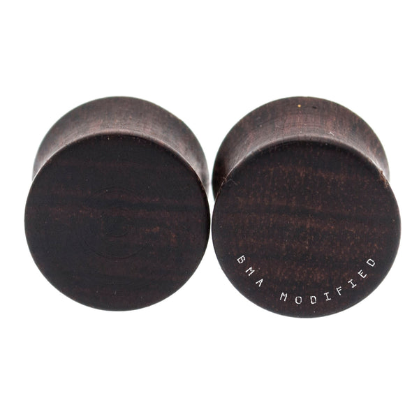 "Dark Chechen Wood Plugs (9/16"") #7709"