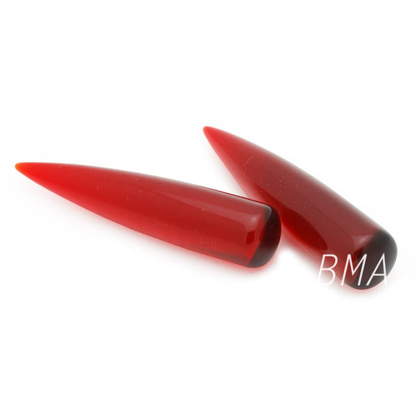 red glass tapers