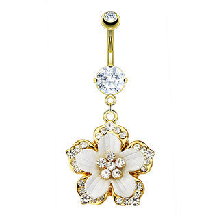 Lillykoi CZ Drop Navel Ring
