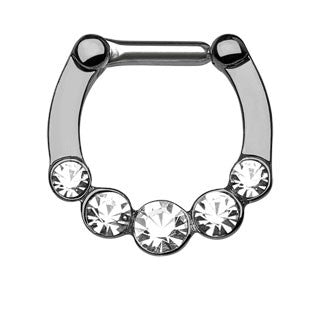 Five Gems Ion Plated Septum Clicker