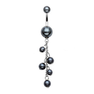 Pearl Charms Navel Ring