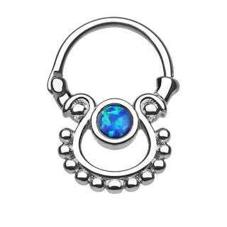Single Opal Septum Clicker
