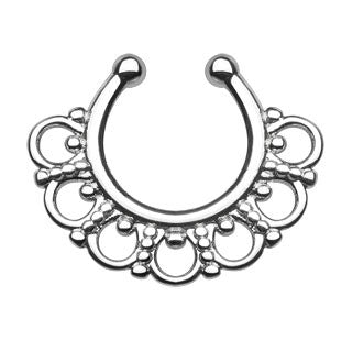 Tribal Fan Faux Septum Hanger