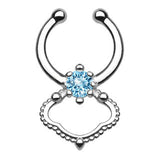 Single CZ Faux Septum Hanger