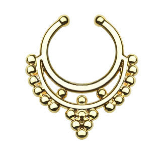 Beaded Collar Faux Septum Hanger