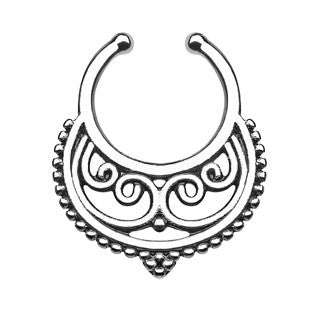 Crescent Swirls Inside Faux Septum Hanger