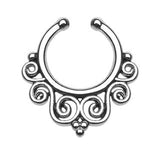 Tribal Swirls Faux Septum Hanger