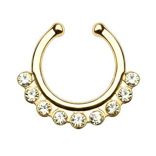 Single Line Gems Faux Septum Hanger