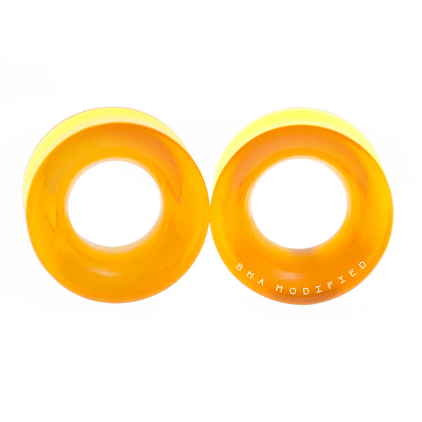 Amber Acrylic Tunnels (18mm)
