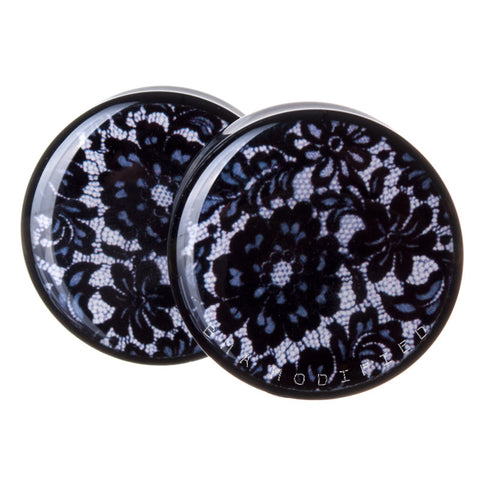 black lace plugs