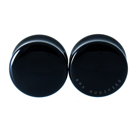 "Black Obsidian Stone Plugs 2g-2"" (6mm-51mm)"