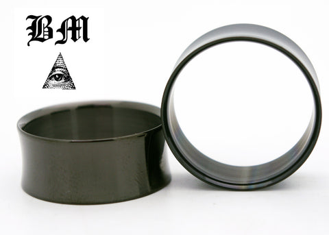 black anodized steel plugs