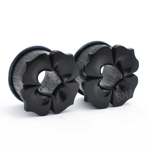 Blossom Areng Ebony Tunnels Plugs