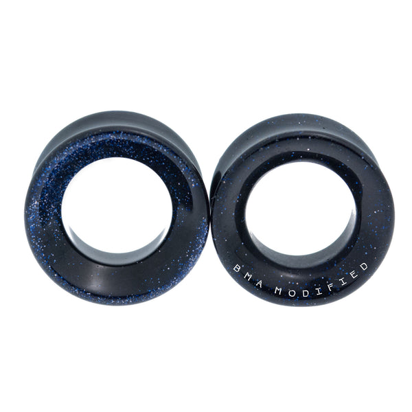 Blue Sandstone Concave Tunnels Plugs (6mm-20mm)