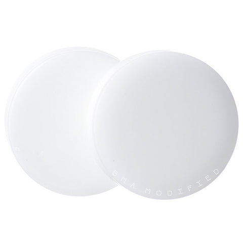 white glass plugs