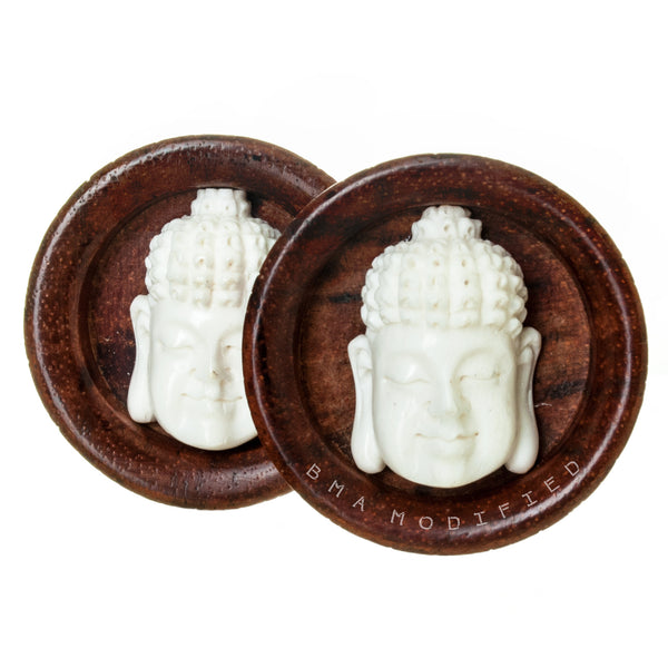 bone buddha wood plugs