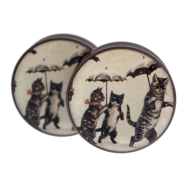"Vintage Cats In The Rain 1 1/16"" (27mm)"