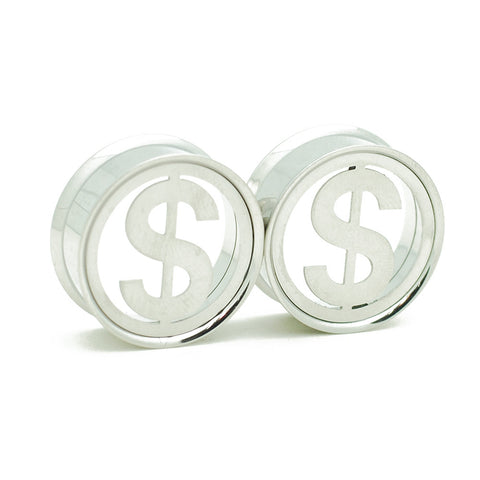 cash sign steel plugs