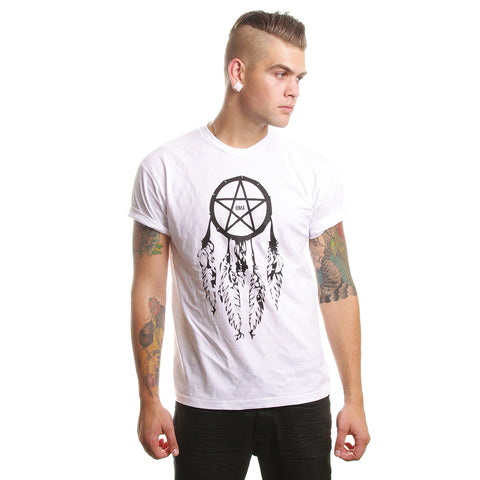 Crew T-Shirt // Pentagram Dreamcatcher White