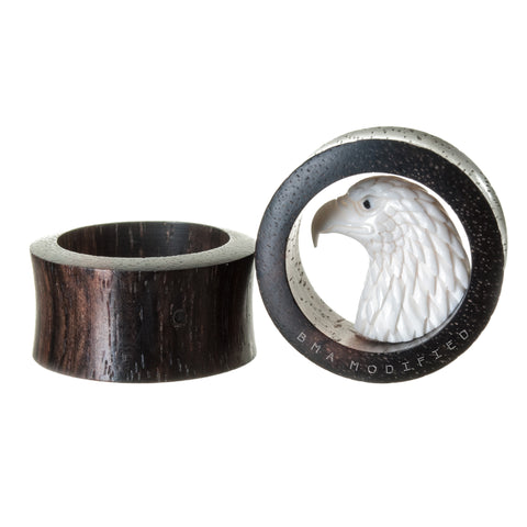 bone eagle tunnel wood plugs