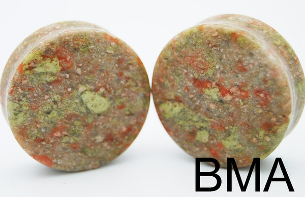 Earth Jasper Stone Plugs (35mm-38mm)