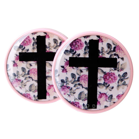 cross floral plugs
