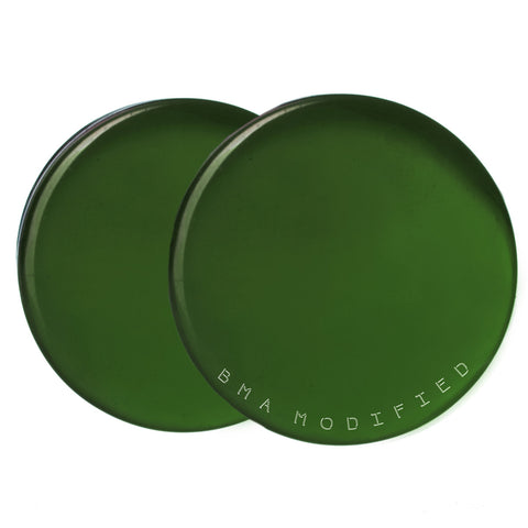 green forest glass plugs
