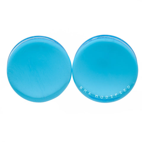 glacier blue glass plugs
