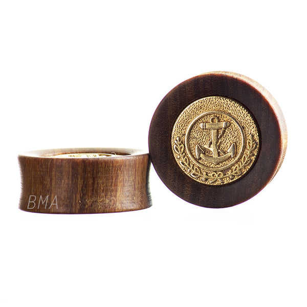 gold anchor wood plugs