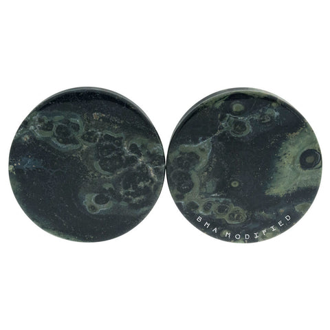 Green Eye Jasper Stone Plugs (4mm-29mm)