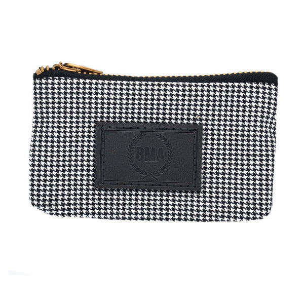 Houndstooth Card Wallet / Plug Pouch