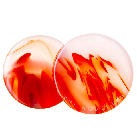 koi orange glass plugs