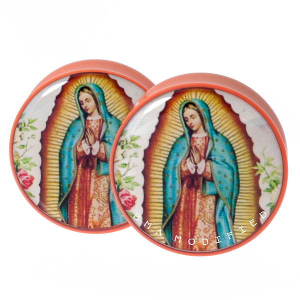 "Lady Guadalupe Plugs 1 & 1/8"" (29mm)"