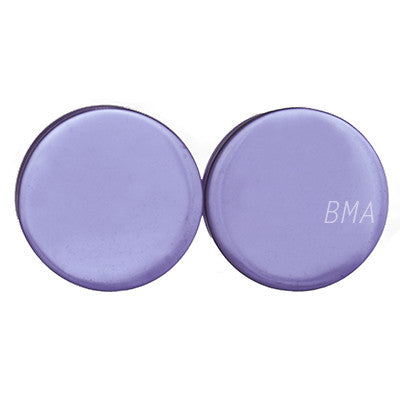 light purple glass plugs