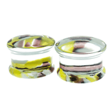 Electric Lime Pyrex Glass Plugs