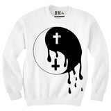 Crew Sweater // Melting Yin Yang White