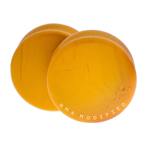 mustard yellow glass plugs