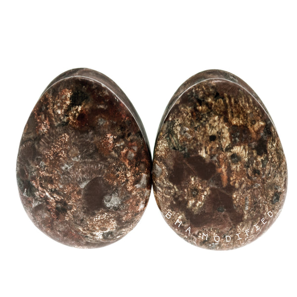 muted leopard stone plugs