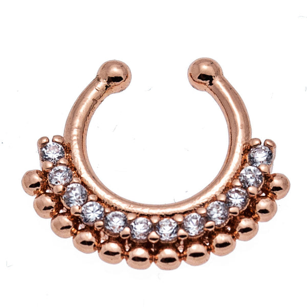 Noor Mini Garland CZ Faux Septum