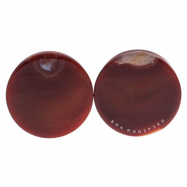 Red Agate Stone Plugs (4th of July Sale)