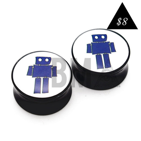 blue robot plugs