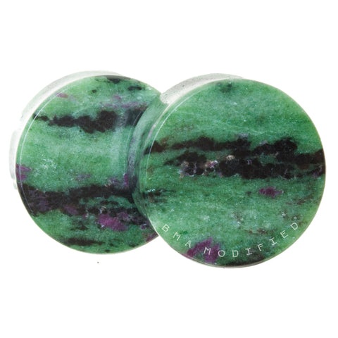 ruby in zoisite stone plugs