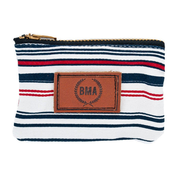 Red, White, Blue Light Denim Wallet / Plug Pouch