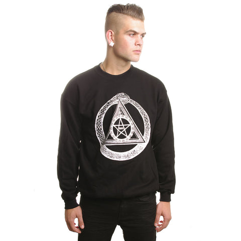 Crew Sweater // Serpent Circle Black