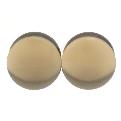 gray glass plugs