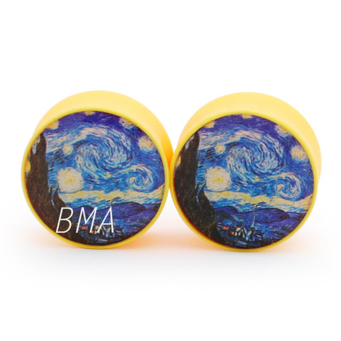 starry night yellow plugs