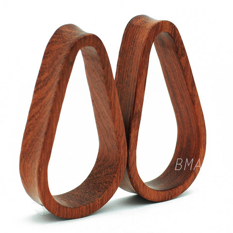 Bloodwood Tunnels Teardrop Plugs (6mm-51mm)