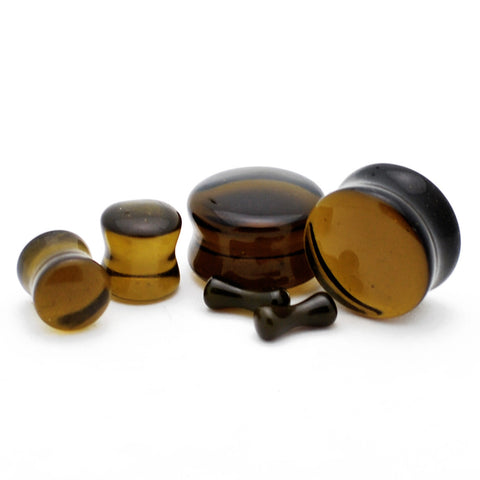 translucent glass plugs