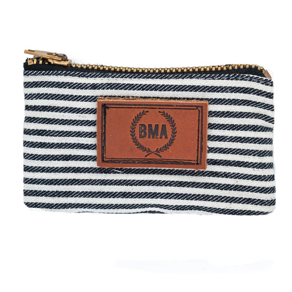 Conductor Stripes Card Wallet / Plug Pouch